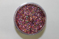 Starlight Nail Art Glitter - 82 Pink Hexagon Small (2 oz.)