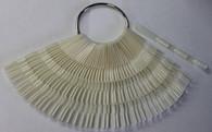Starlight Nail Tip Display - Key Ring Bamboo Natural (150 Tips)
