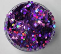 Starlight Nail Art Glitter - 12 Purple Octagons (2 oz.)