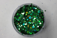 Starlight Nail Art Glitter - 45 Green Diamonds (2 oz.)