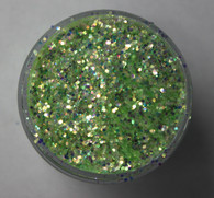 Starlight Nail Art Glitter - 87 Green Octagons (2 oz.)
