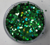 Starlight Nail Art Glitter - 5 Green Octagons (2 oz.)