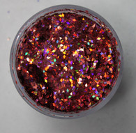 Starlight Nail Art Glitter - 44 Red Diamonds (2 oz.)