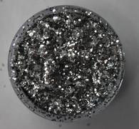 Starlight Nail Art Glitter - 100 Silver Octagons (2 oz.)