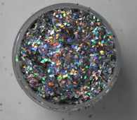 Starlight Nail Art Glitter - 41 Silver Diamonds (2 oz.)