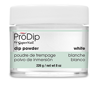 Super Nail Pro Dip Powder - White 8 oz. (Acrylic Dipping System)