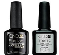CND Shellac - UV/LED Xpress Top Coat & Base Coat Combo (.25 oz)