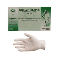 Copy of Great Glove - Disposable Latex Gloves MEDIUM (100 pcs/box)