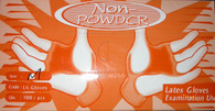 Non-Powder Latex Gloves X LARGE (100 pcs/box)