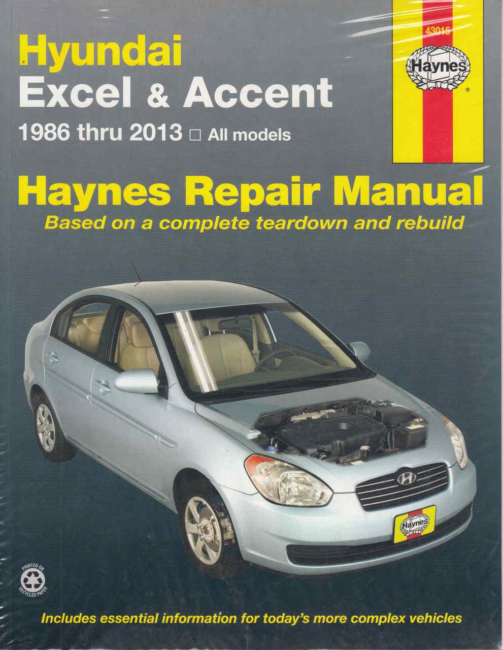 buy hyundai excel accent 1986 2013 workshop manual rh automotobookshop com au hyundai accent 2000 repair manual Hyundai Accent Service Manual