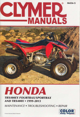 Honda TRXEX Fourtrax, Sportrax and TRX400X 1999 - 2013 Workshop Manual