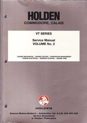 Holden Commodore, Calais VT Series Workshop Manual (vol 2)