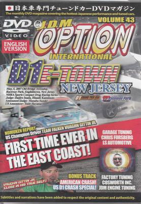 J.D.M. Option International Volume 43 DVD  - front