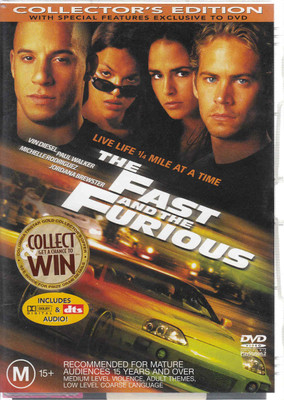 The Fast And The Furious - Collecter's Edition DVD