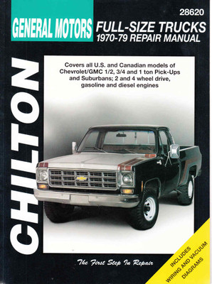 General Motors Full-Size Trucks 1970 - 1979 Workshop Manual (9780801989735) - front