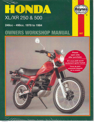 honda xl250 xr250 xl350r xr350r xr200r xr250l 1978 2000 workshop honda xl xr 250 500 1978 1984 workshop manual