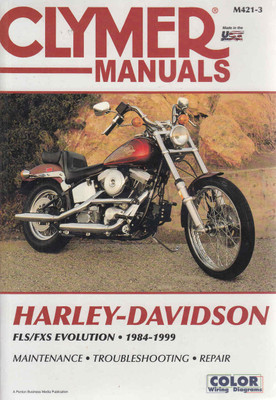 Harley-Davidson FLS / CXS Evolution 1984 - 1999 Workshop Manual