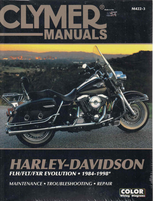 Harley-Davidson FLH FLT FXR Evolution 1984 - 1998 Workshop Manual