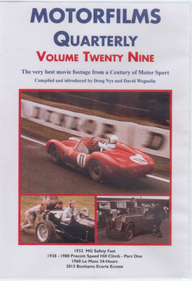 Motorfilms Quarterly Volume Twenty Nine DVD (DWPDVD3029)