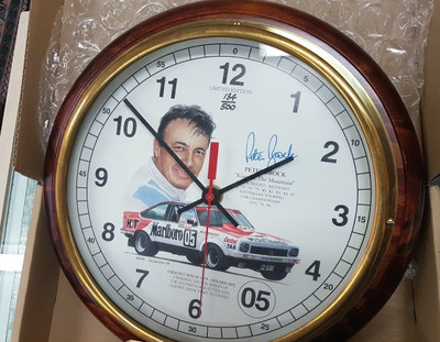 The Peter Brock Motorsport Clock (Signed by Peter Brock,