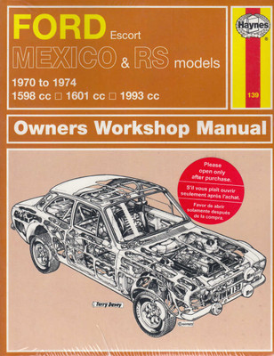 Ford Escort Mexico & RS models 1970 to 1974 Owners Workshop Manual (9780857336576)