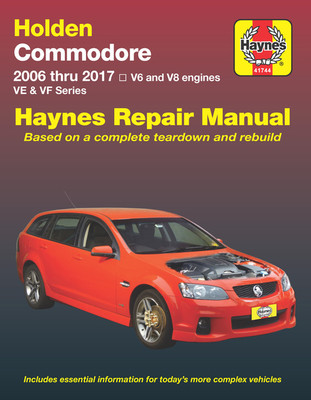 Holden Commodore 2006 thru 2017 VE/VF Series Repair Manual (9781620921609)