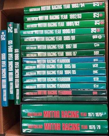 Australian Motor Racing Yearbook Set