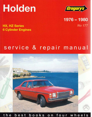 Gregorys products automoto bookshop holden hx hz 6 cylinder 1976 1980 workshop manual sciox Gallery
