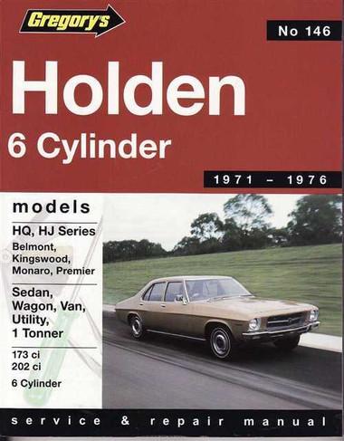 Holden hq hj 6 cylinder 1971 1976 workshop manual sciox Gallery
