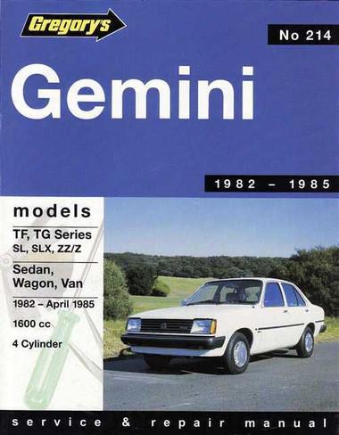 Gemini tf tg series 1982 1985 workshop manual holden gemini tf tg series 1982 1985 workshop manual sciox Gallery