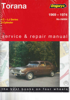 Holden Torana LC - LJ - 6 Cylinder 1969 - 1974 Workshop Manual  - front