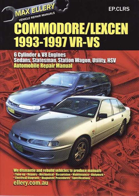 Holden Commodore & Toyota Lexcen V6 and V8 1993 - 1997 Workshop Manual