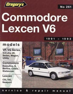Holden Commodore & Toyota Lexcen V6 1991 - 1993 Workshop Manual