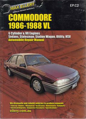 Holden Commodore VL 1986 - 1988 Workshop Manual (9781876257224)