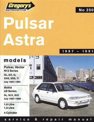 Nissan Pulsar & Holden Astra 1987 - 1991 Workshop Manual