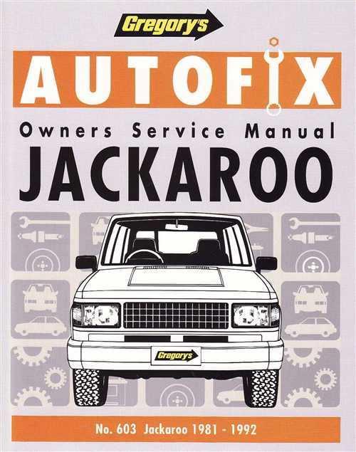 holden jackaroo workshop manual pdf
