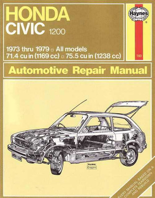 Honda Civic 1200 1973 - 1979 Workshop Manual