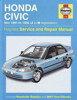 Honda Civic 1991 - 1996 Workshop Manual