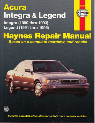Honda (Acura) Integra and Legend 1990 - 1995 Workshop Manual