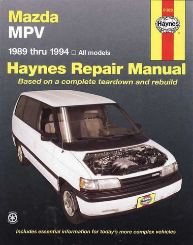 Mazda MPV 1989 - 1994 Workshop Manual
