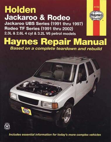 Holden Jackaroo Amp Rodeo 1991 2002 Workshop Manual border=