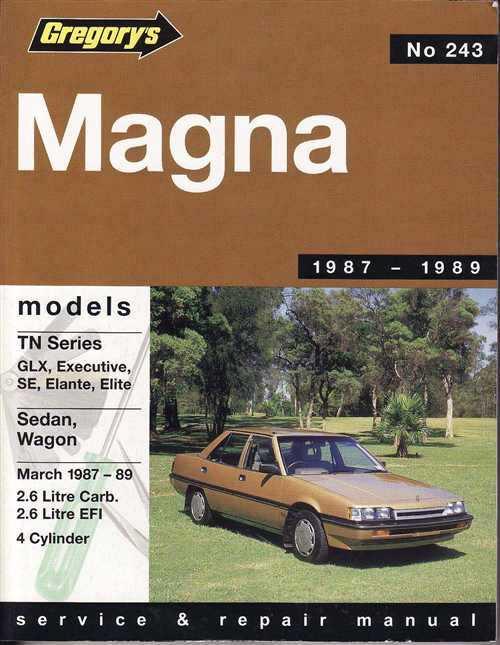 mitsubishi magna workshop manual pdf