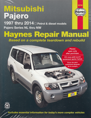Mitsubishi Pajero NL, NM, NP, NS, NT, NW,petrol and diesel 1997 - 2014 Workshop Manual (9781620921395)