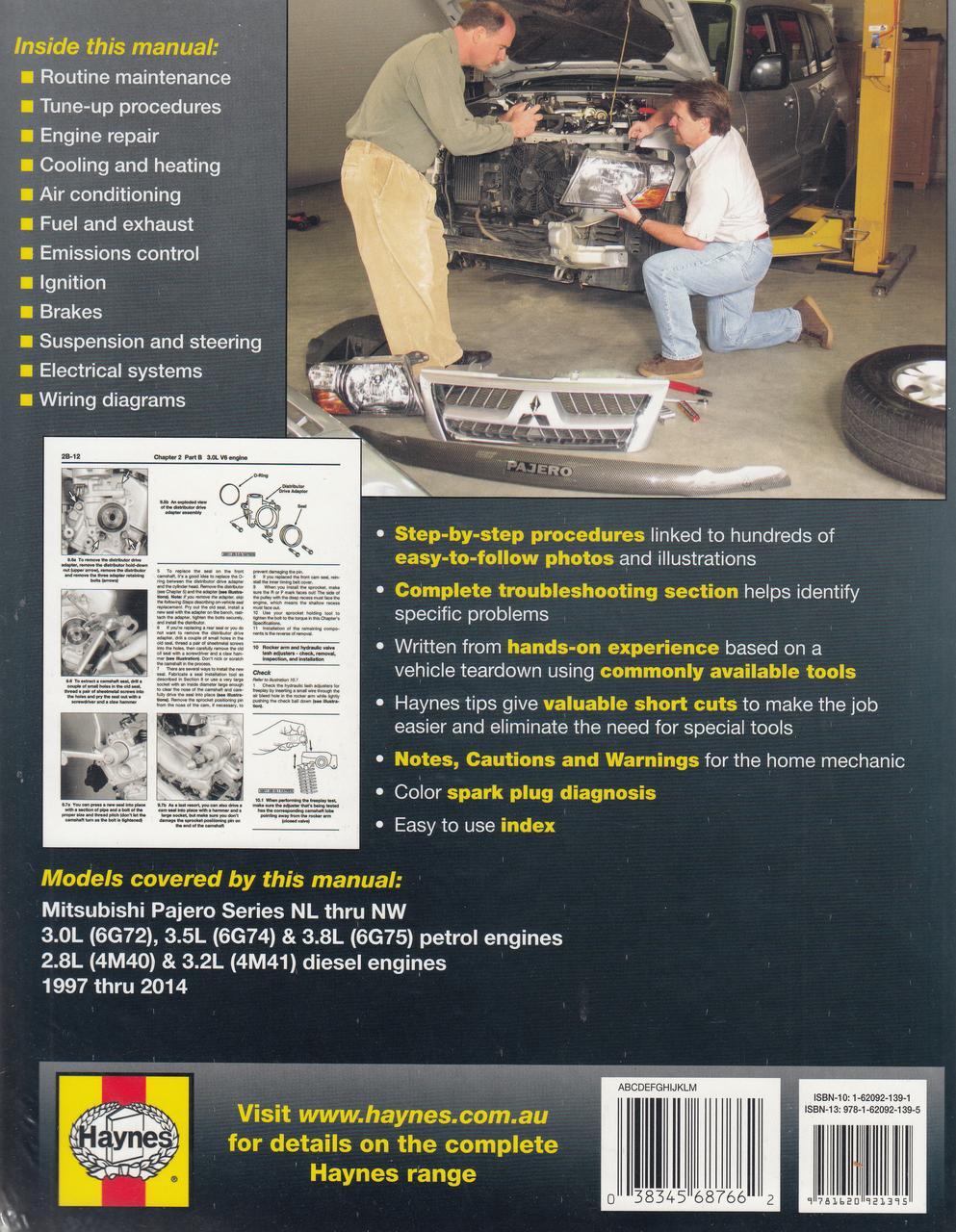 Mitsubishi Pajero Nl  Nm  Np  Ns  Nt  Nw Petrol And Diesel