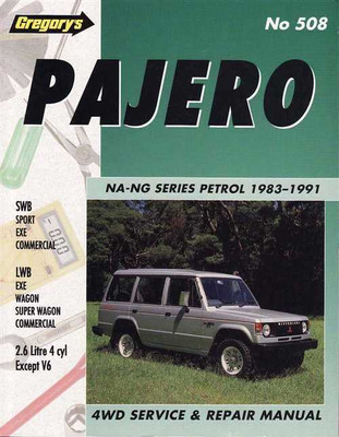Mitsubishi Pajero NA - NG Series 1983 - 1991 Workshop Manual