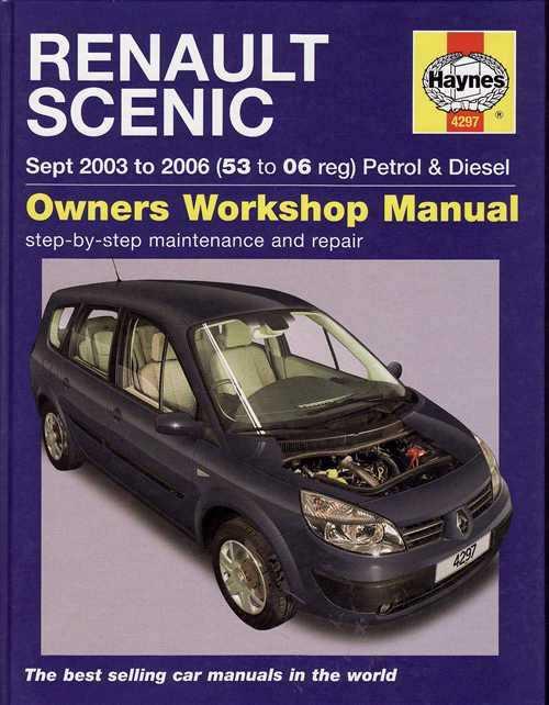 renault scenic 2003 2006 workshop manual rh automotobookshop com au renault megane 3 service manual renault clio service manual pdf