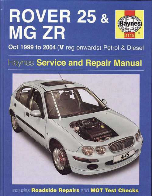 rover 25 mg zr 1999 2004 workshop manual. Black Bedroom Furniture Sets. Home Design Ideas