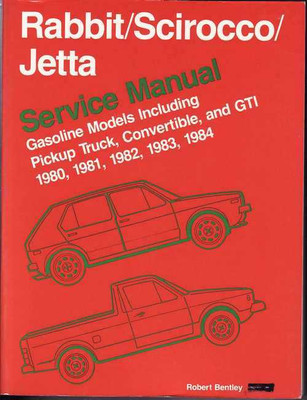 Volkswagen Rabbit (Golf), Scirocco, Jetta 1980 - 1984 Workshop Manual