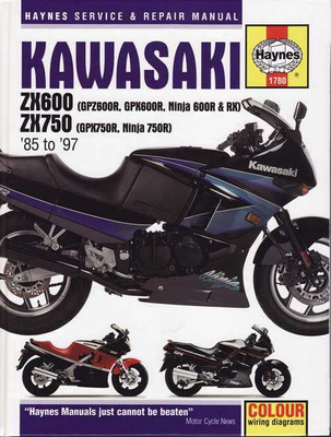 Kawasaki ZX600, ZX750 1985 - 1997 Workshop Manual