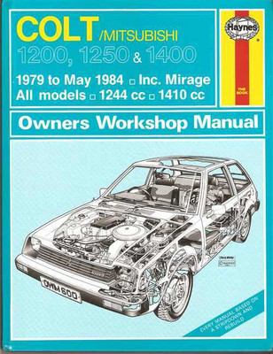 Mitsubishi Colt 1200, 1250, 1400 (incl. Mirage) 1979 - 1984 Workshop Manual